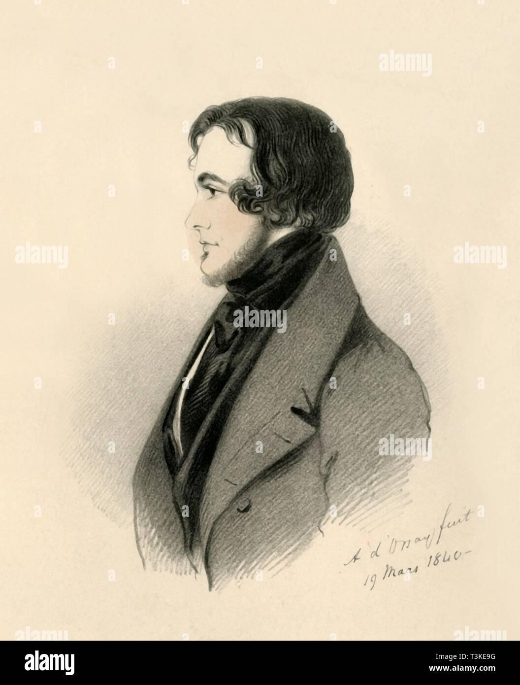 'Viscount Fitzharris', 1840. Creator: Richard James Lane. - Stock Image