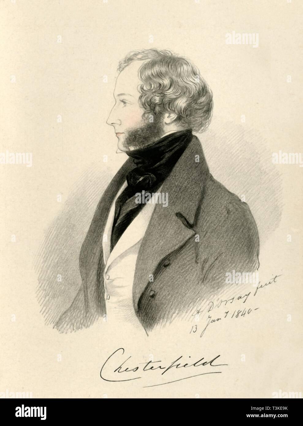 'The Earl of Chesterfield', 1840. Creator: Richard James Lane. - Stock Image