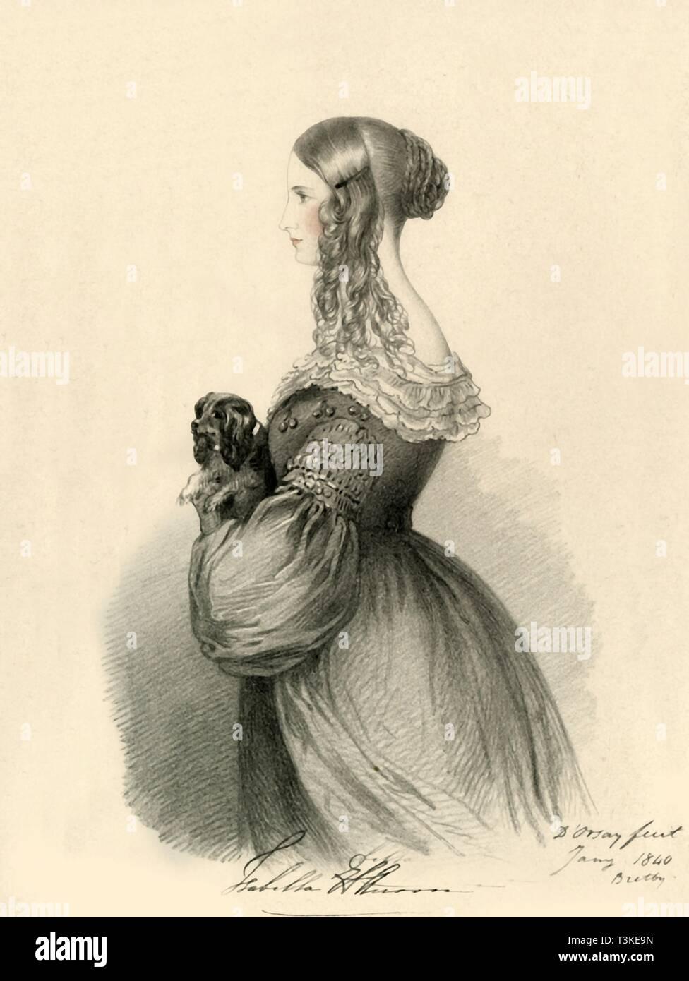 'Isabella Anson', 1840. Creator: Richard James Lane. - Stock Image