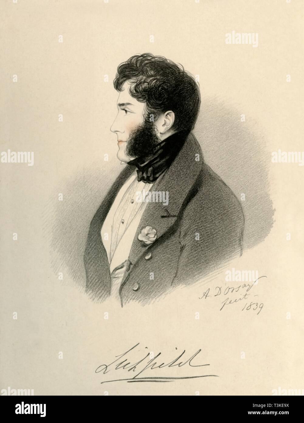 'Earl of Lichfield', 1839. Creator: Richard James Lane. - Stock Image