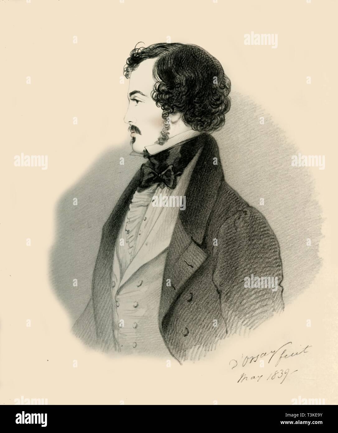 'Viscount Jocelyn', 1839. Creator: Richard James Lane. - Stock Image