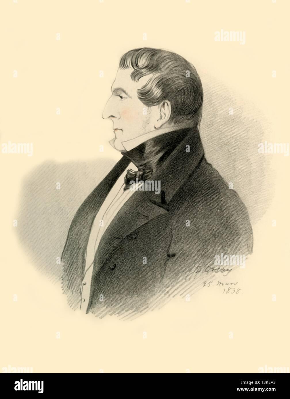 'The Viscount Allen', 1838. Creator: Richard James Lane. - Stock Image