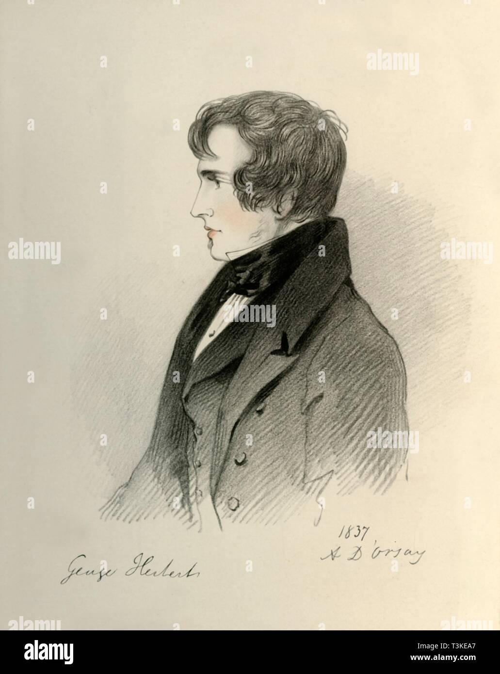'George Herbert Esquire', 1837. Creator: Richard James Lane. - Stock Image