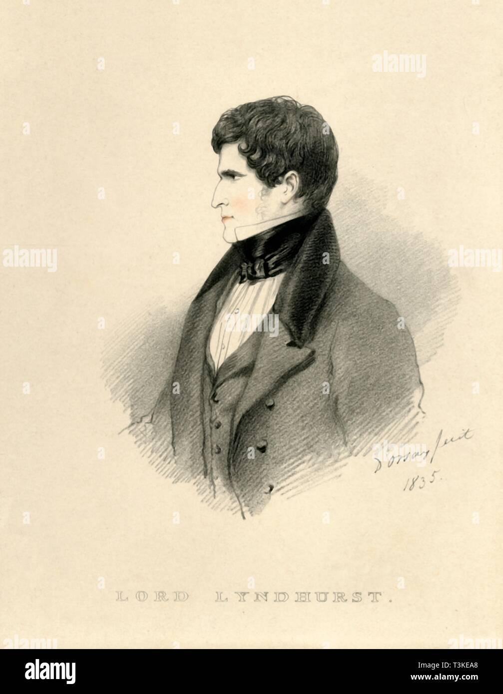'Lord Lyndhurst', 1835. Creator: Richard James Lane. - Stock Image
