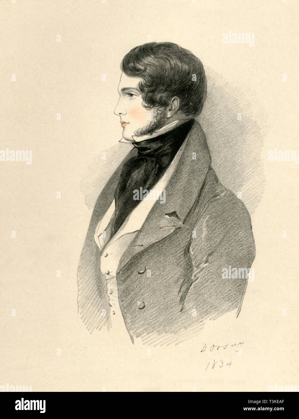 'William Little Gilmour Esquire', 1834. Creator: Alfred d'Orsay. - Stock Image