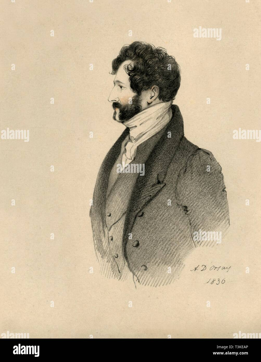 'The Honourable Lincoln Stanhope', 1836. Creator: Richard James Lane. - Stock Image
