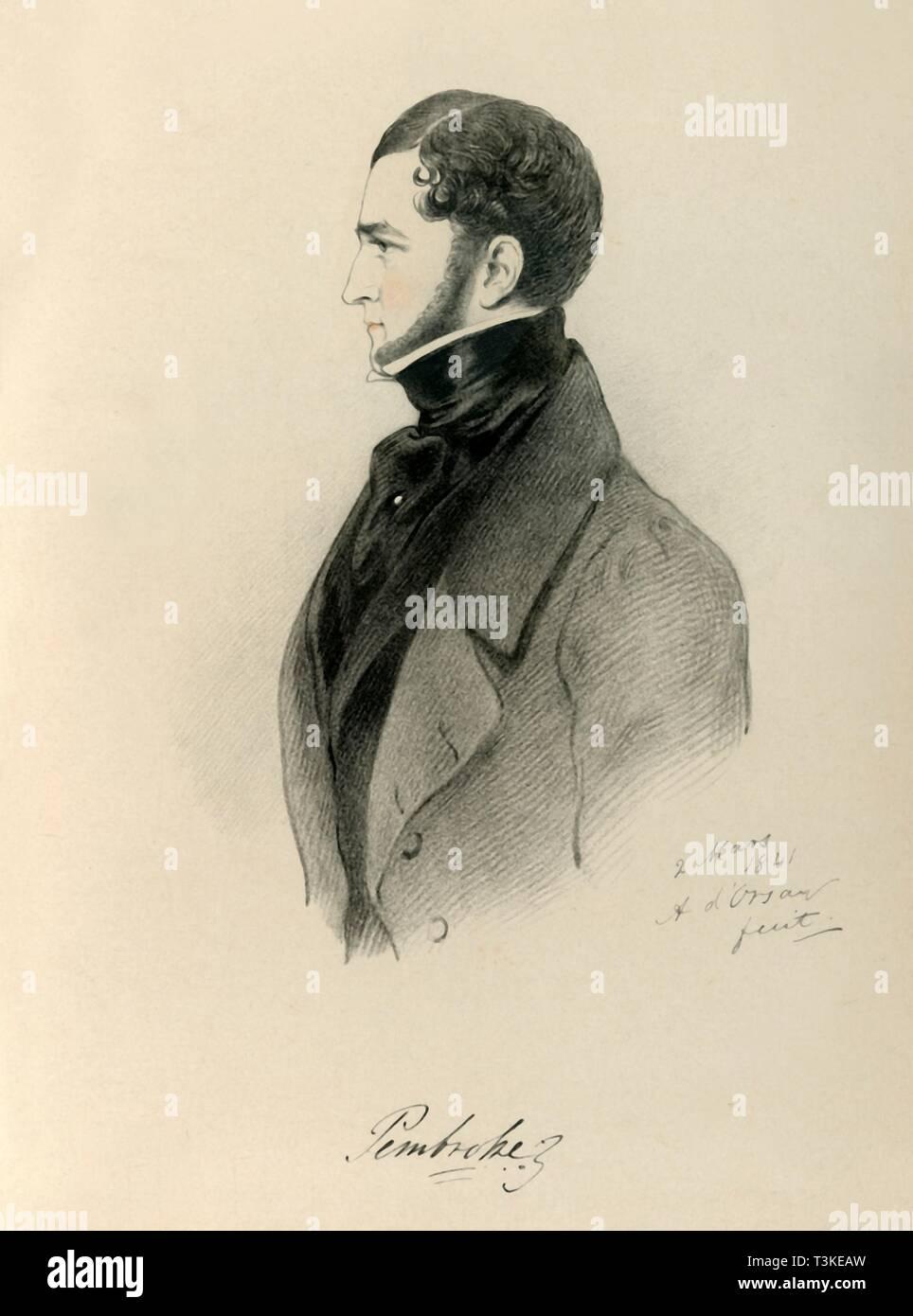 'Pembroke', 1841. Creator: Richard James Lane. - Stock Image