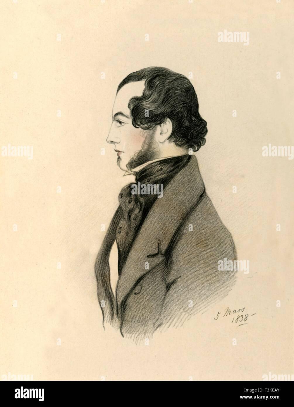 'J Home Purves', 1838. Creator: Richard James Lane. - Stock Image