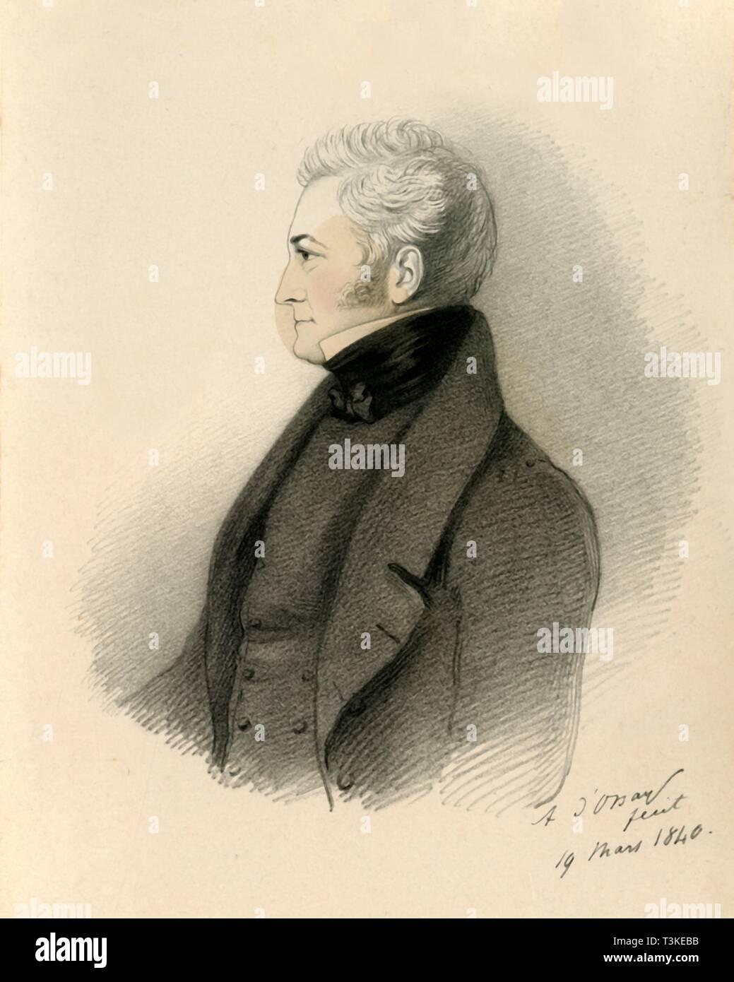 George James Guthrie, 1840.  Creators: Alfred d'Orsay, Richard James Lane. - Stock Image