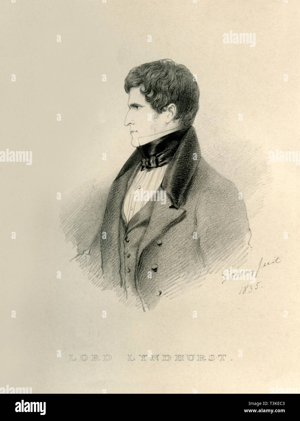 'Lord Lyndhurst', 1835. DELETE - duplicate Creator: Alfred d'Orsay. - Stock Image