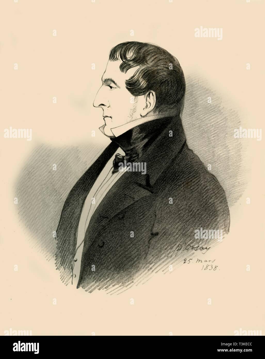 Viscount Allen, 1838.  Creator: Richard James Lane. - Stock Image
