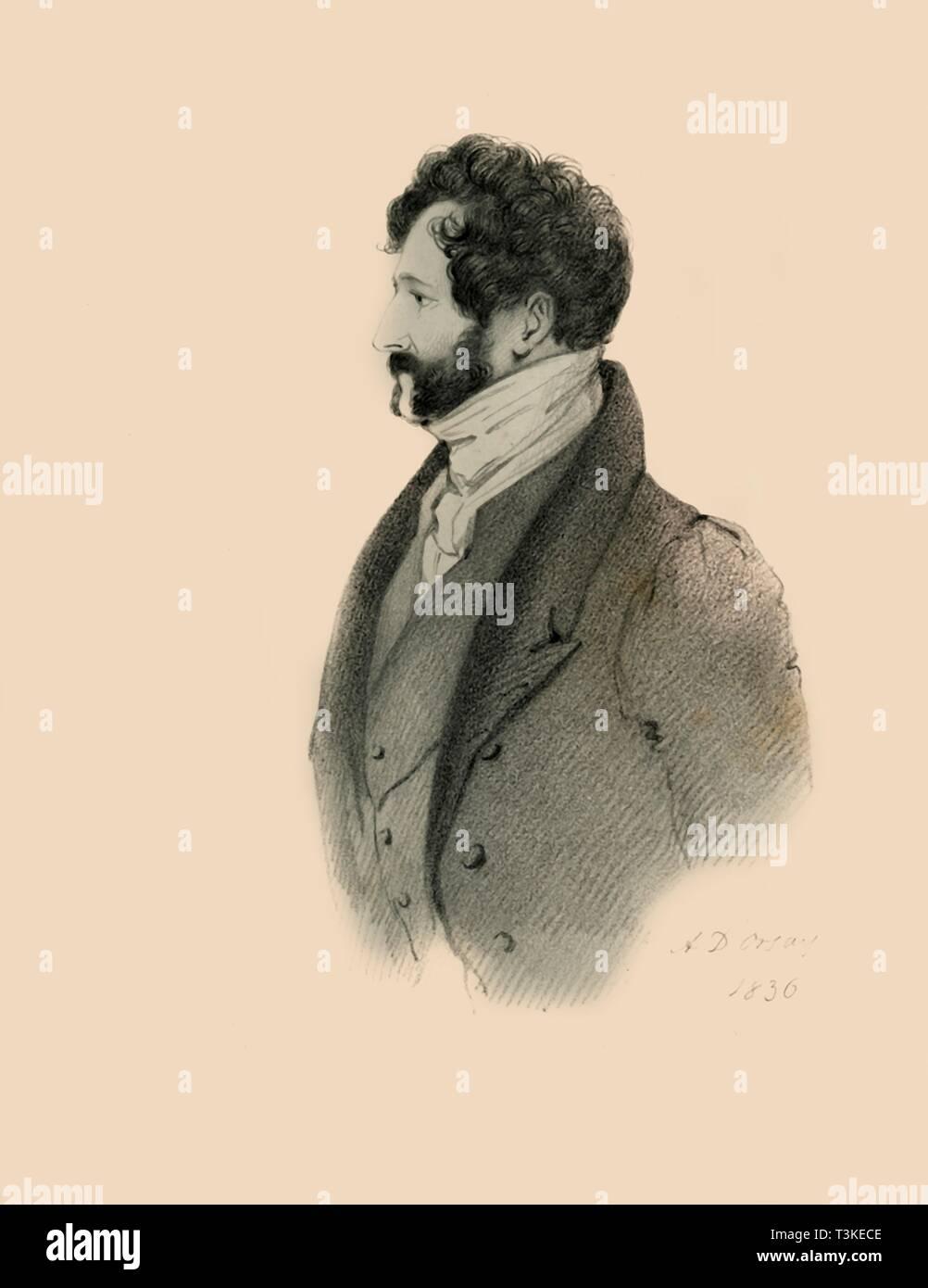 Lincoln Stanhope, 1836. Creator: Richard James Lane. - Stock Image