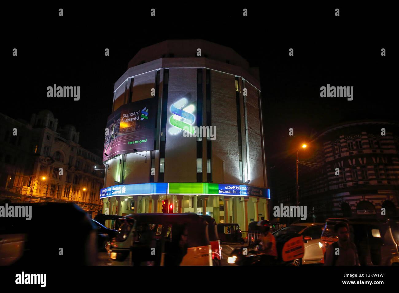 Standard Chartered Bank building in Colombo, Sri Lanka Stock Photo