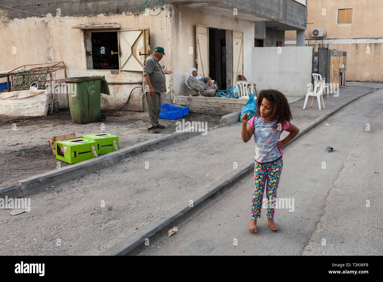 Jisr az-Zarqa, Israel - Stock Image