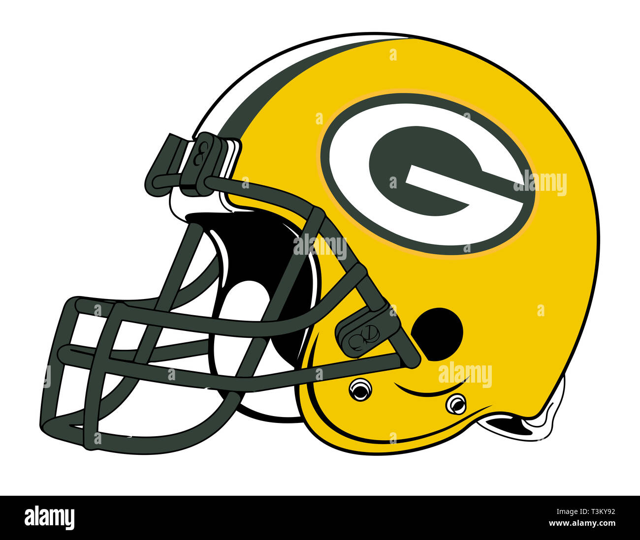 Green Bay Packers Helmet Team Sport Equipment Illustration Stock Photo Alamy