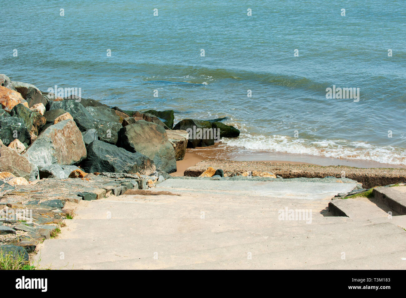 Seaside in Courtown village in Co. Wexford, Ireland - Stock Image