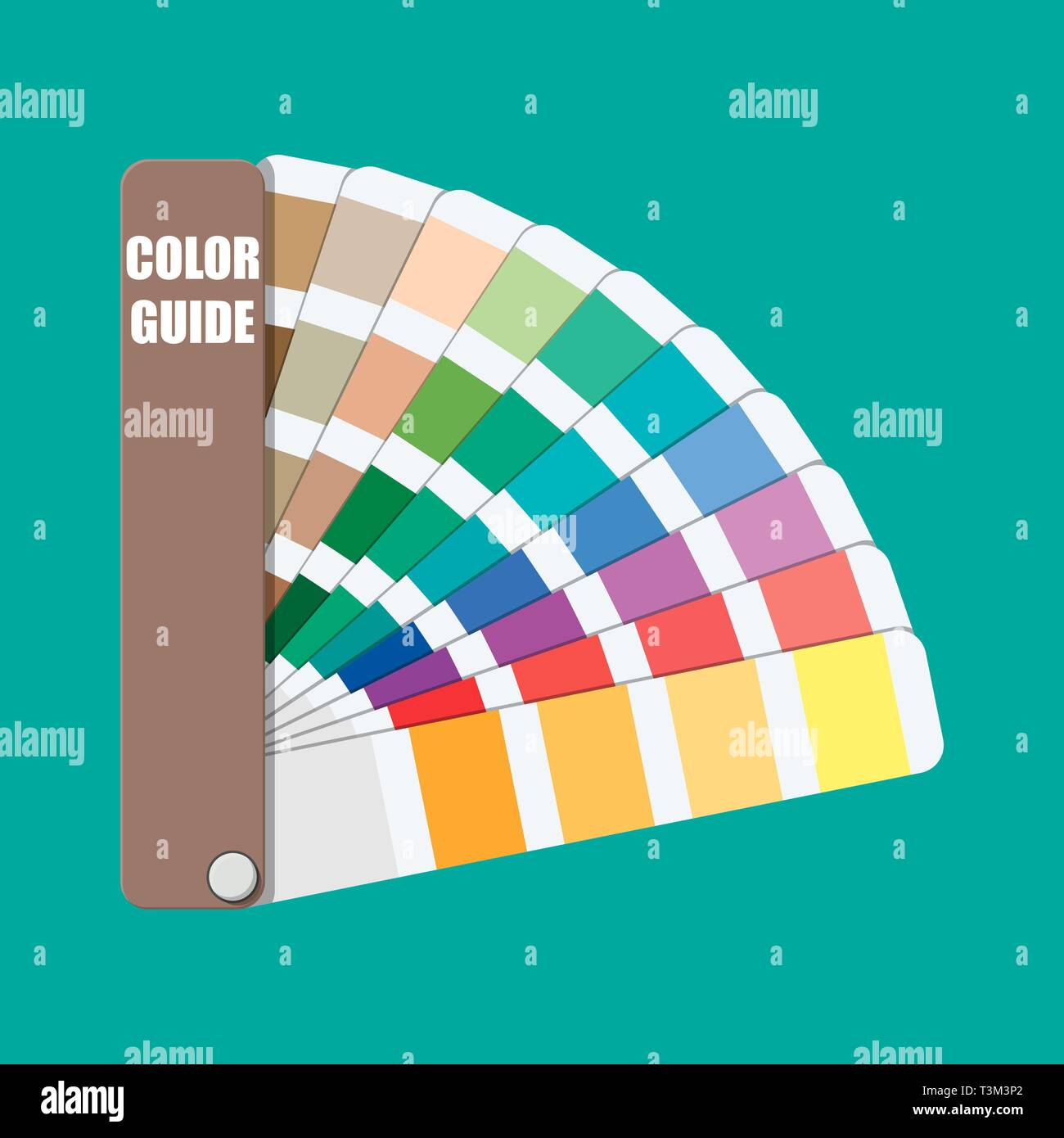 Color Swatch Color Palette Guide Colorful Scale Rainbow Tool For Designer Photographer Artist Coloured Swatches Catalogue Book Pantone Vector Stock Vector Image Art Alamy
