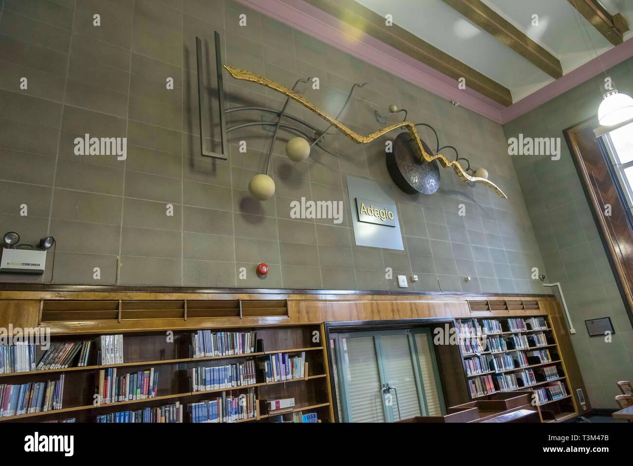 Artwork Adagio at Liverpool University Harold Cohen library - Stock Image