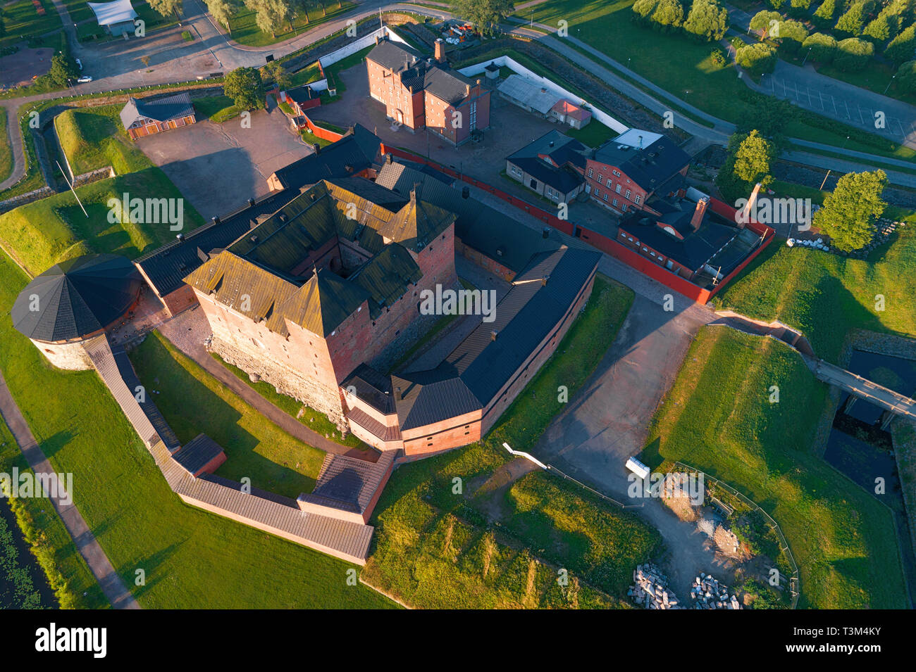 Above the Hameenlinna fortress on a July morning. Finland Stock Photo