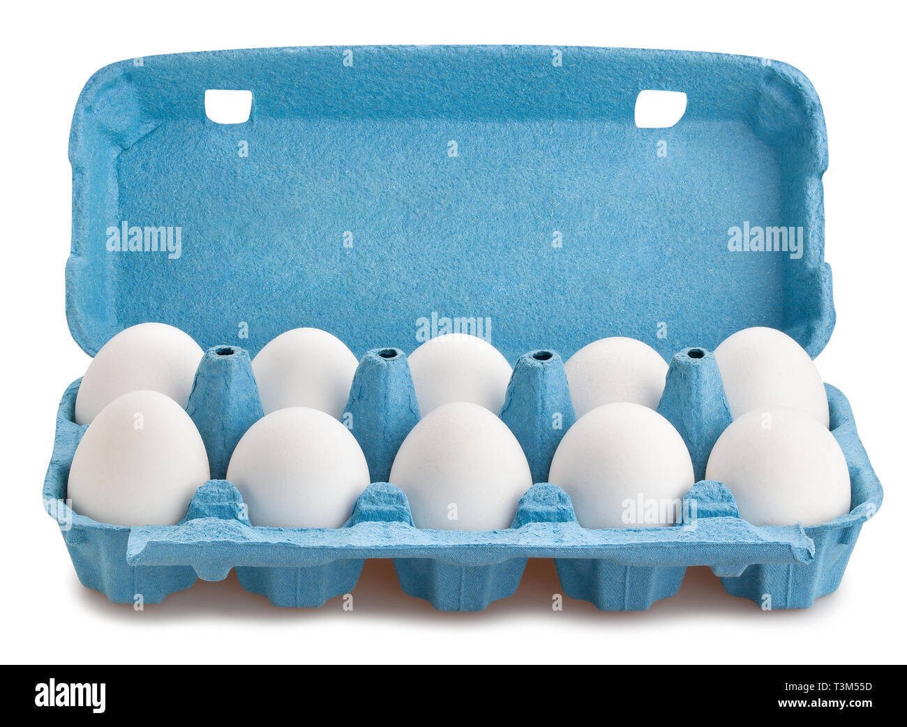 eggs package path isolated - Stock Image