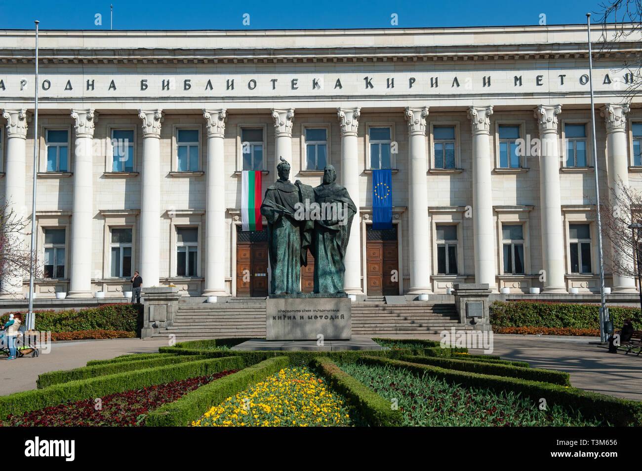 The National Library, Sofia, Bulgaria, Europe - Stock Image