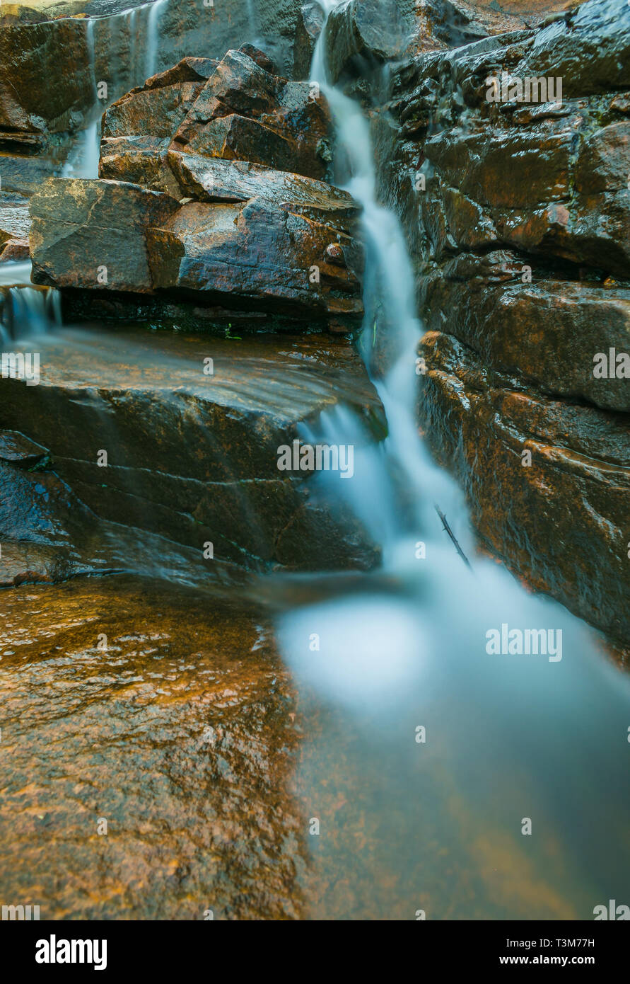Dwellingup waterfall long exposure South west Australia - Stock Image