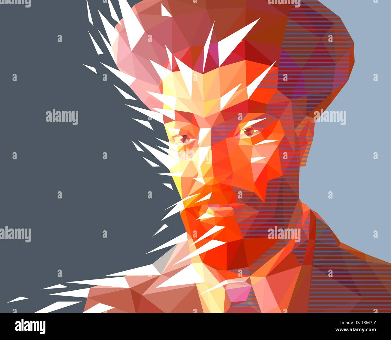 Young Jew in the low polygon style - Stock Vector