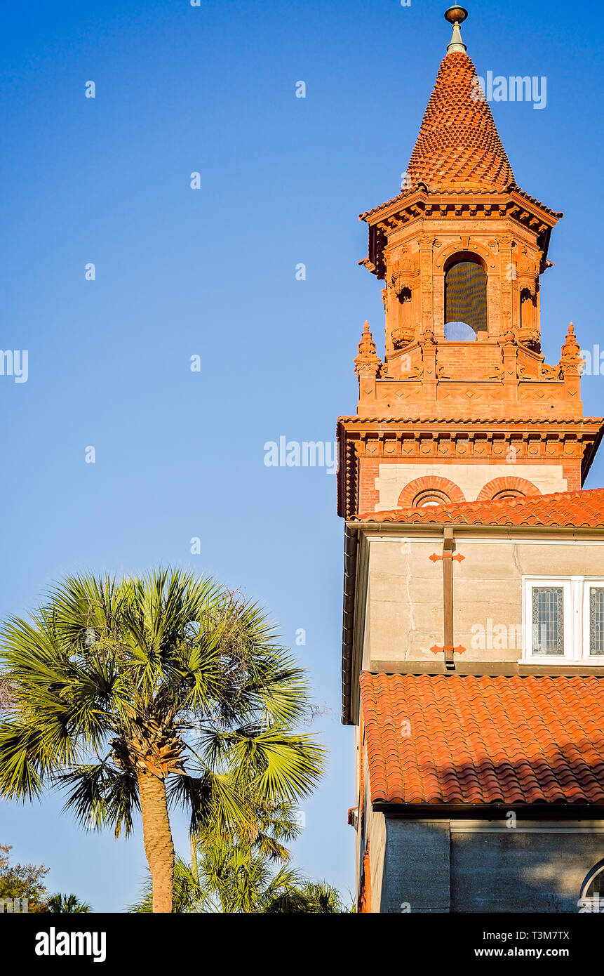 Grace United Methodist Church is pictured, March 21, 2016, in St. Augustine, Florida. The church was constructed by oil tycoon Henry Flagler. - Stock Image