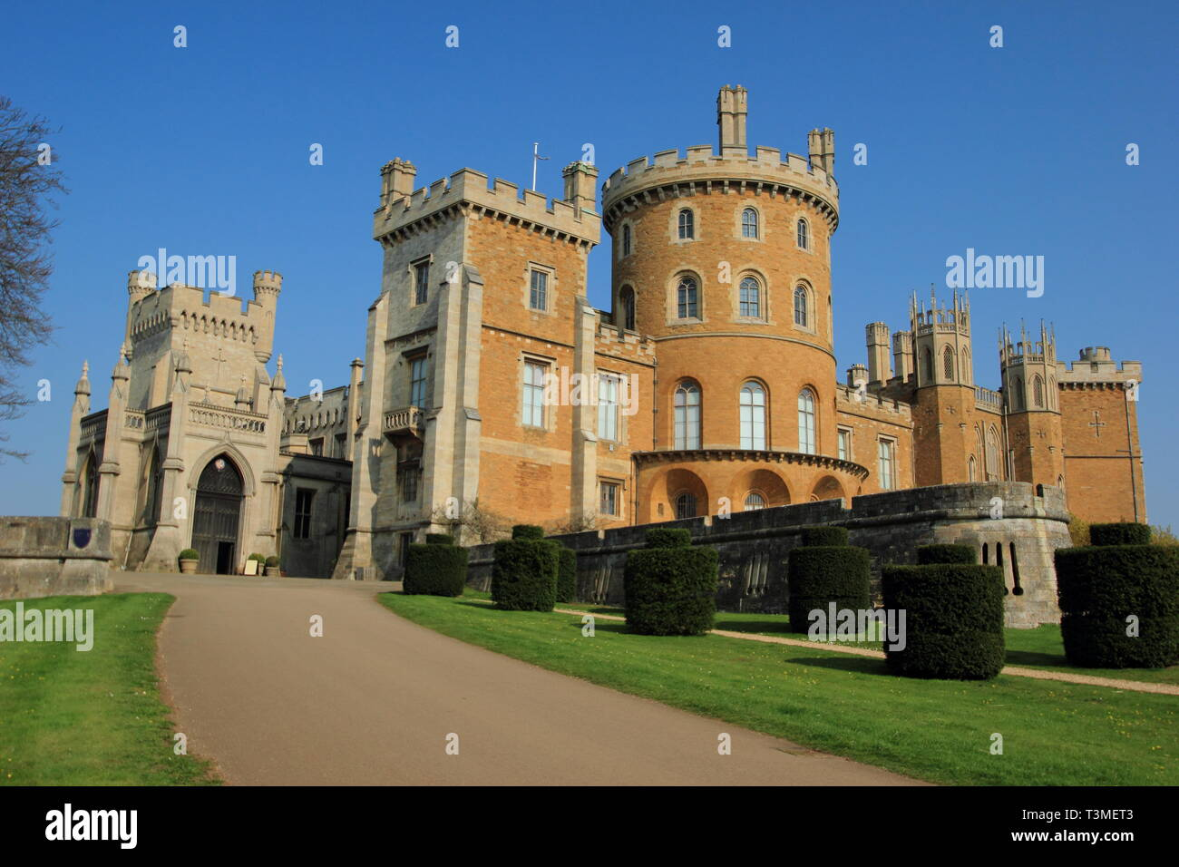 Belvoir Castle, seat of the Duke of Rutland, Leicestershire, England, UK - spring Stock Photo