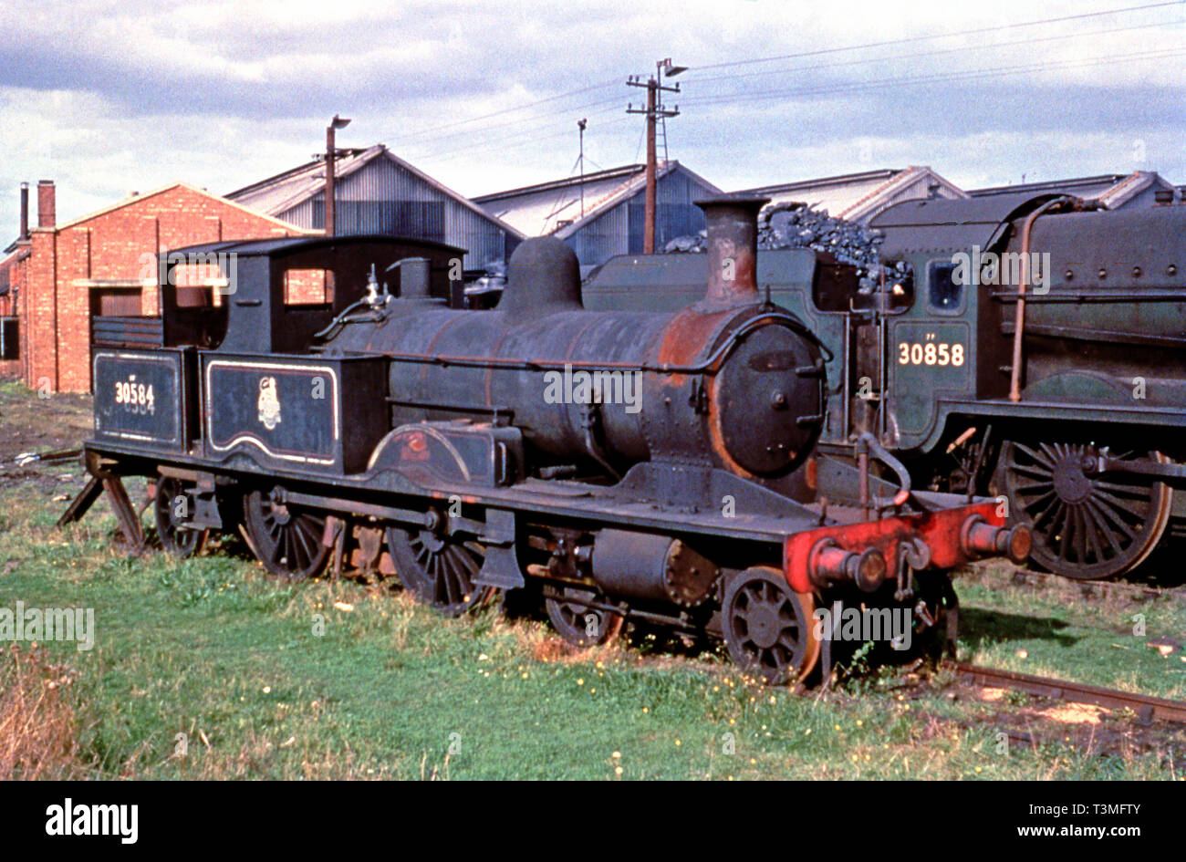 Withdrawn Adams Radial Tank No 30584 at Possible Eastleigh early sixties - Stock Image