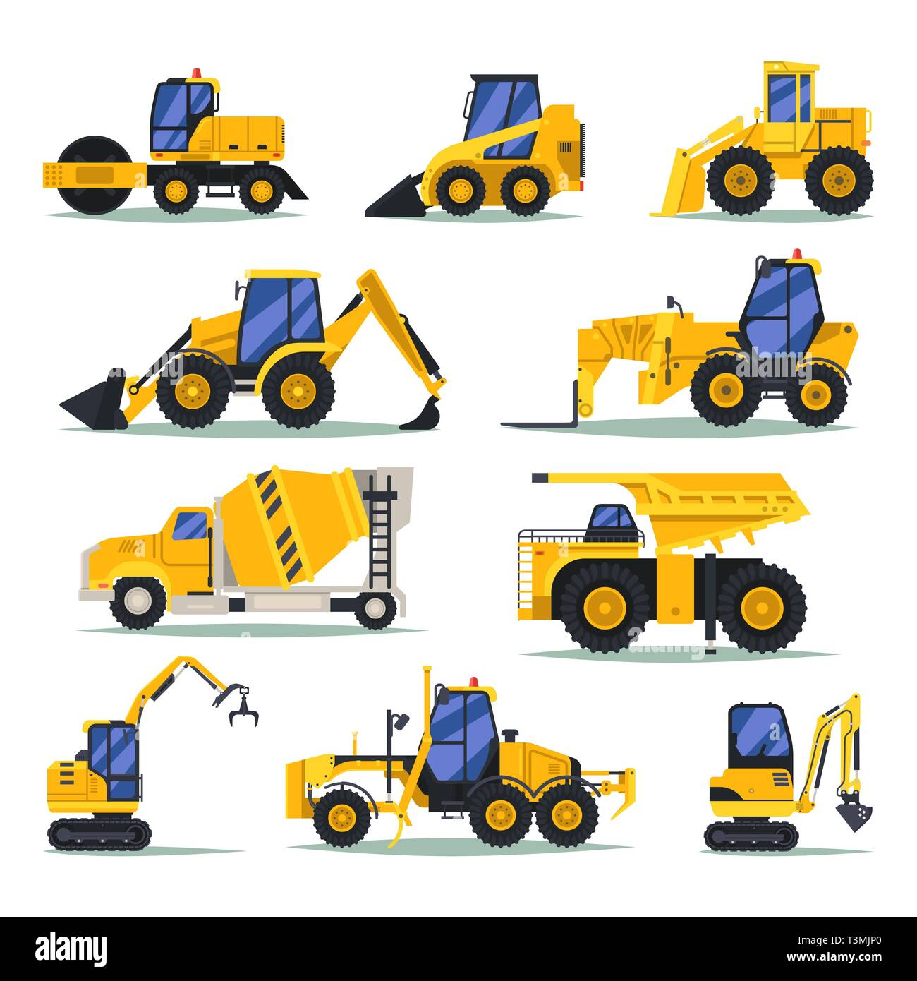 Heavy trucks or lorry, auto for industrial work Stock Vector