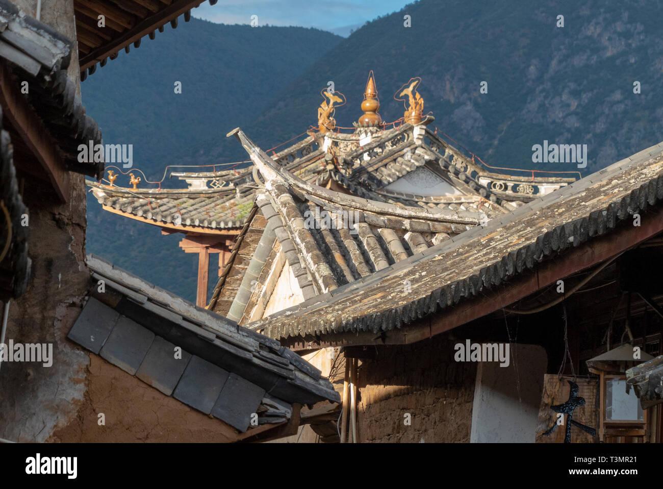 Sideng market, Shaxi, Yunnan, China Stock Photo
