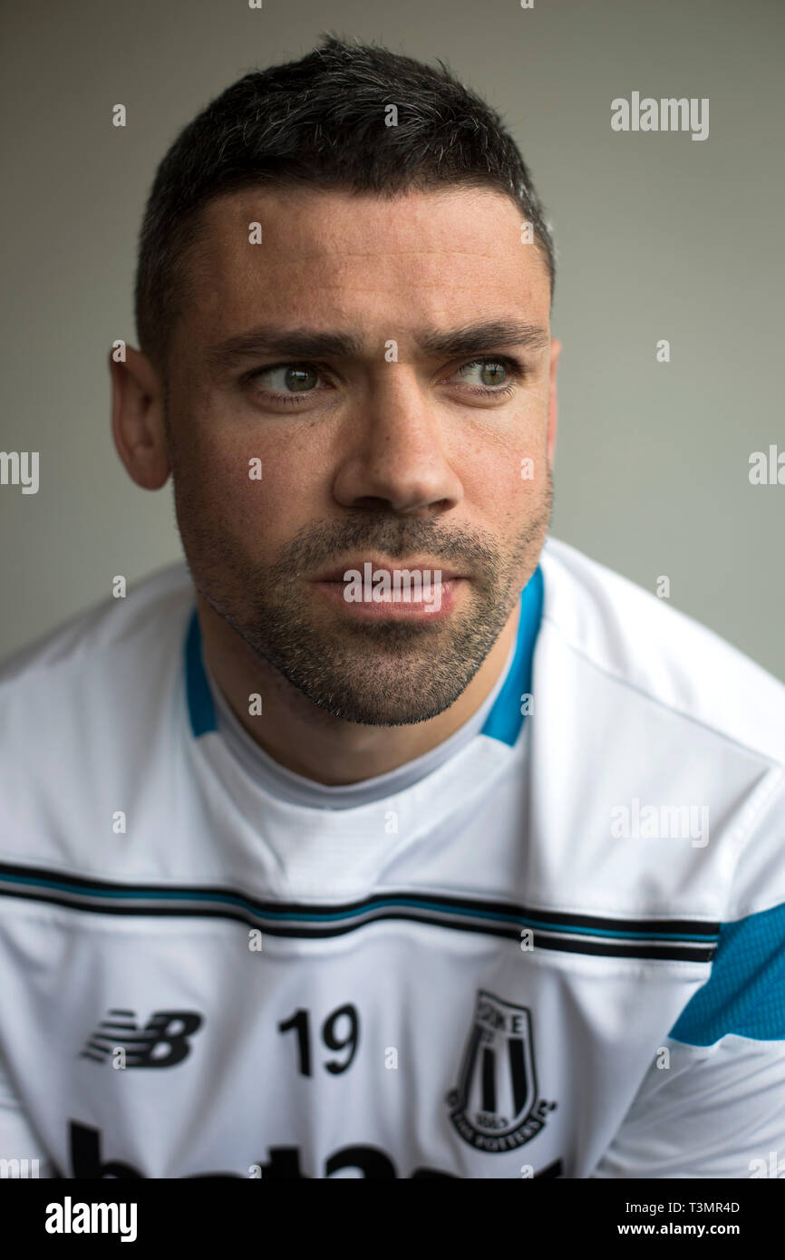 Stoke City footballer Jon Walters, pictured at the club's training ground at Stoke-on-Trent. Walters was born in Moreton, Merseyside and played for a variety of clubs including Hull City, Wrexham and Ipswich Town, before signing for Stoke City in 2010. He represented the Republic of Ireland at international level. - Stock Image