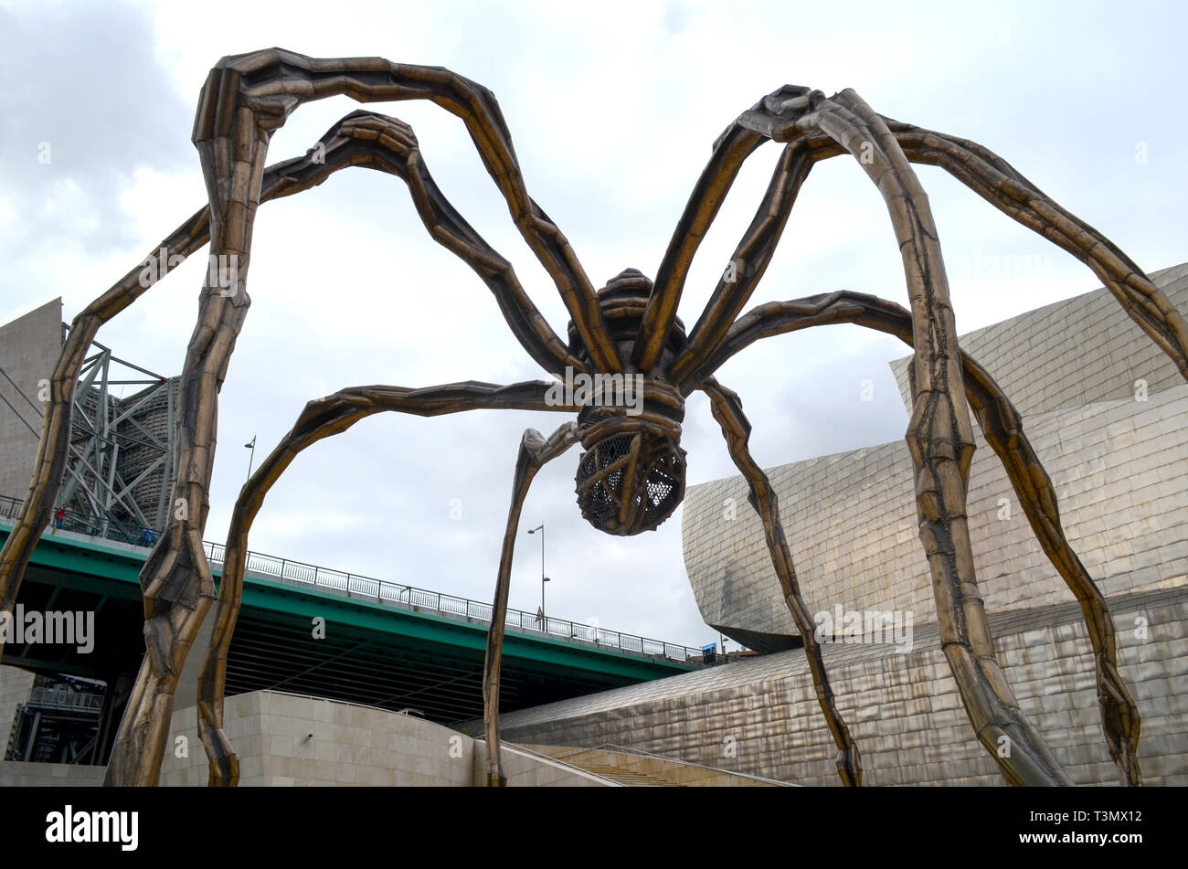 bilbao city on spain pictured in  dec.12.2015 - Stock Image