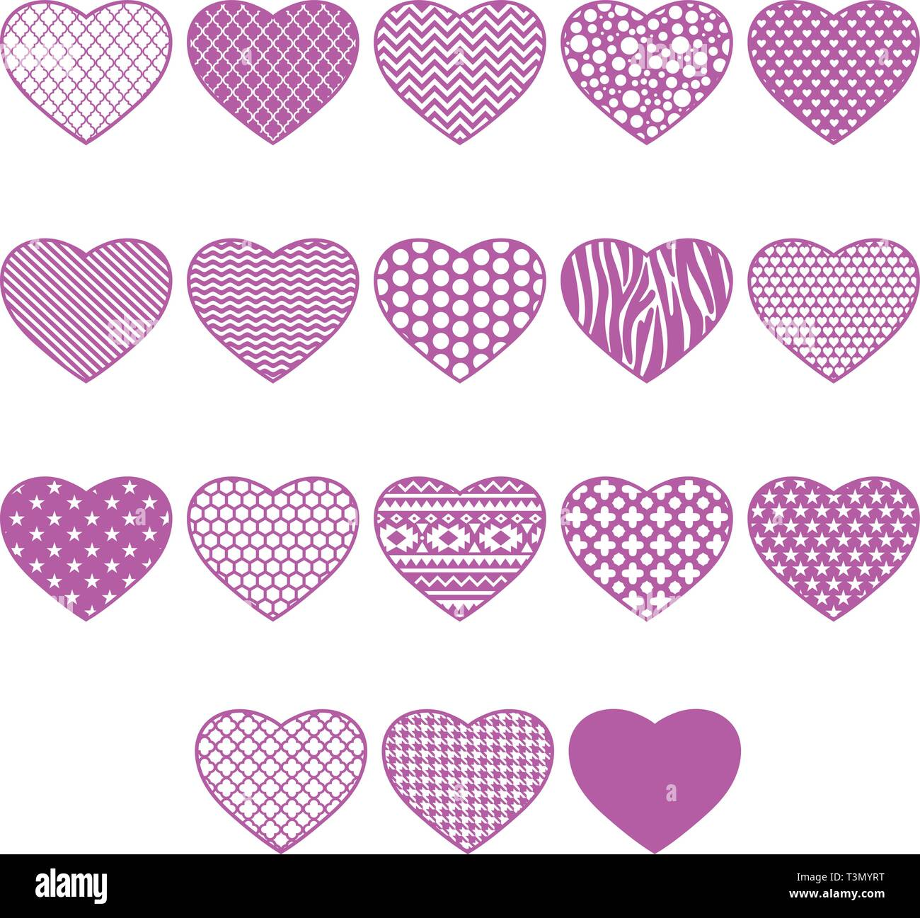 Hearts collection to Valentines day - Stock Vector