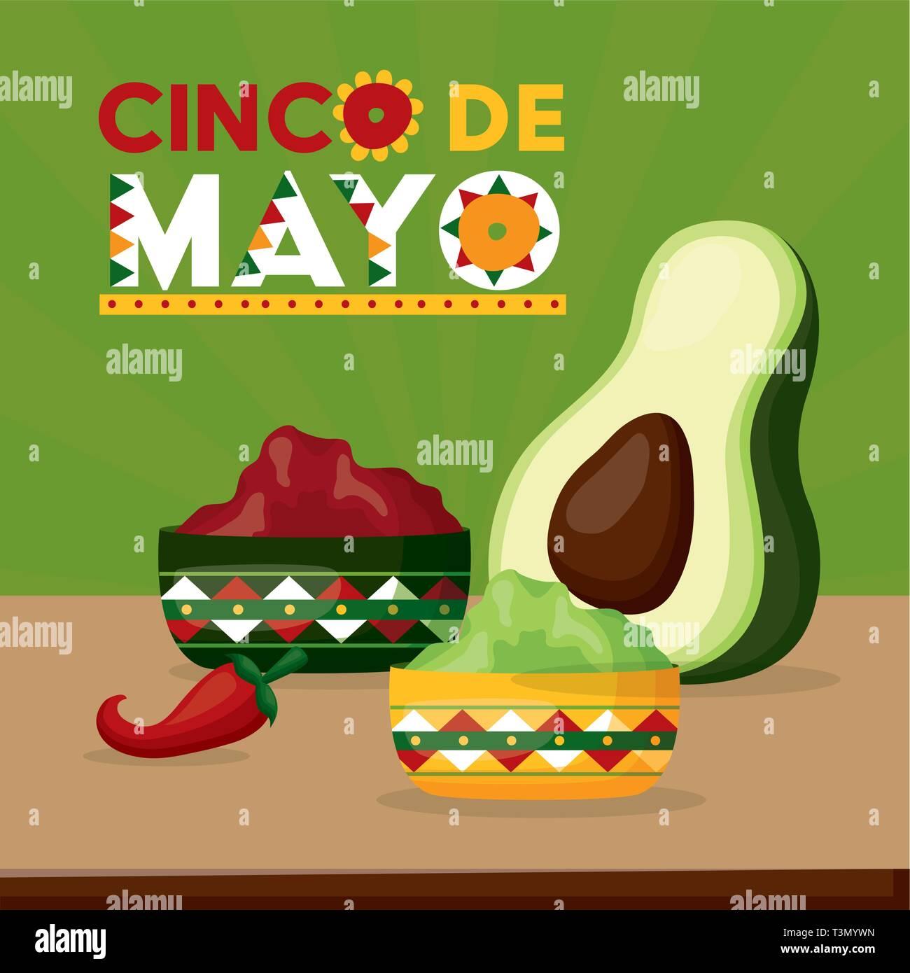 mexico cinco de mayo Stock Vector
