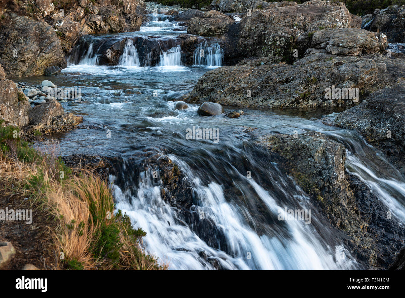 Fairy Pools on the River Brittle, Isle of Skye, Highland Region, Scotland, UK - Stock Image