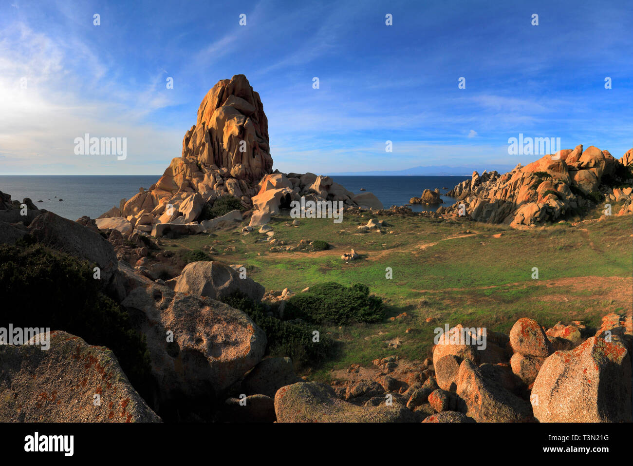 An amazing display of granite rocks at Capo Testa, a wonderful rocky promontory at the very northern tip of Sardinia, Italy - Stock Image