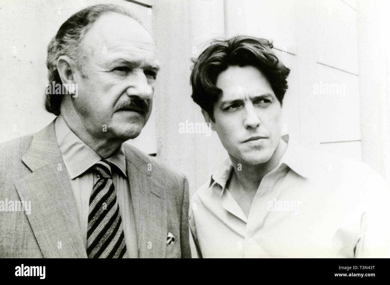 Actors Gene Hackman and Hugh Grant in the movie Extreme Measures, 1990s - Stock Image