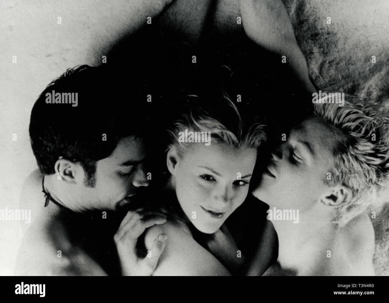 Actors Johnathon Schaech, Kathleen Robertson, and Matt Keeslar in the movie Splendor, 1990s - Stock Image