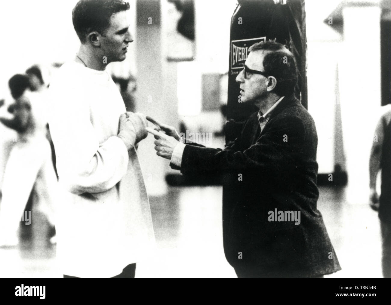 Actors Michael Rapaport and Woody Allen in the movie Mighty Aphrodite, 1994 - Stock Image