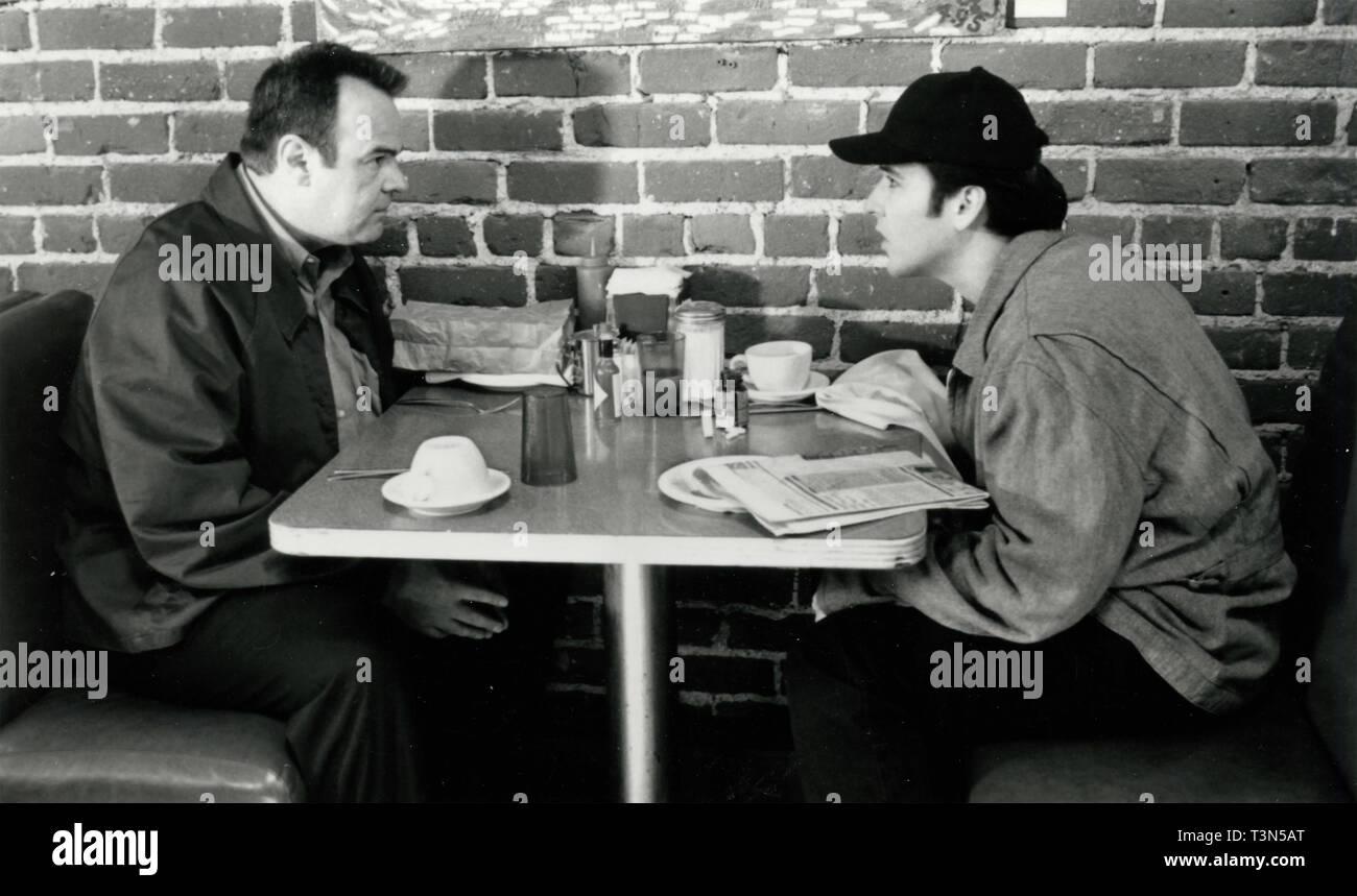 Actors Dan Aykroyd and John Cusack in the movie Grosse Pointe Blank, 1990s - Stock Image