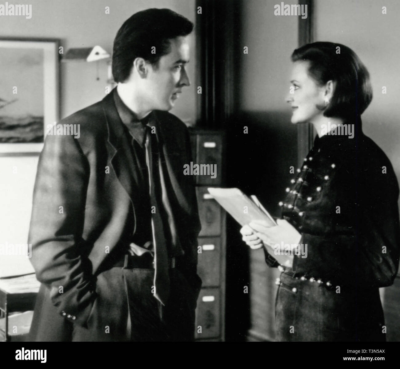 Actors Joan Cusack and John Cusack in the movie Grosse Pointe Blank, 1990s - Stock Image