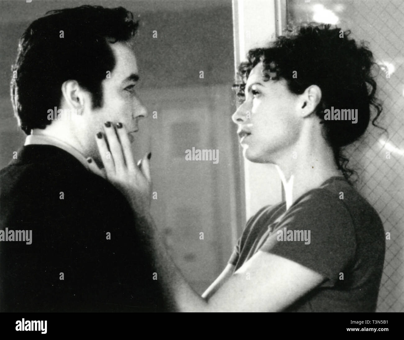 Actors Minnie Driver and John Cusack in the movie Grosse Pointe Blank, 1990s - Stock Image
