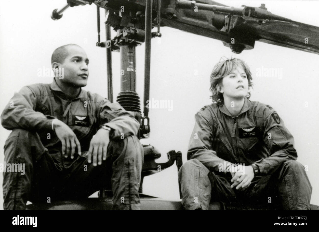 Seth Gilliam and Meg Ryan in the movie Courage Under Fire, 1996 - Stock Image