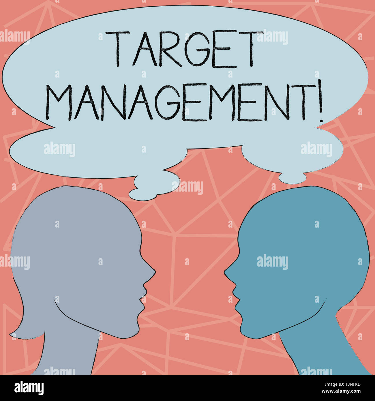 Conceptual hand writing showing Target Analysisagement. Concept meaning Market Segmentation Audience targeting and selection Silhouette Sideview Profi - Stock Image