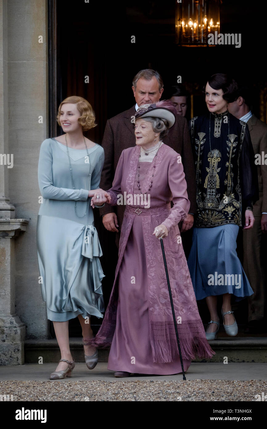 RELEASE DATE: September 20, 2019 TITLE: Downton Abbey STUDIO: Focus Features DIRECTOR: Michael Engler PLOT: Adapted from the hit TV series Downton Abbey that tells the story of the Crawley family, a wealthy owner of a large estate in the English countryside in the early 20th century. STARRING: LAURA CARMICHAEL stars as Edith Crawley, MAGGIE SMITH as Violet Crawley, HUGH BONNEVILLE as Robert Crawley, ALLEN LEECH as Tom Branson and ELIZABETH MCGOVERN as Cora Crawley in Downton Abbey. (Credit Image: © Focus Features/Entertainment Pictures) - Stock Image