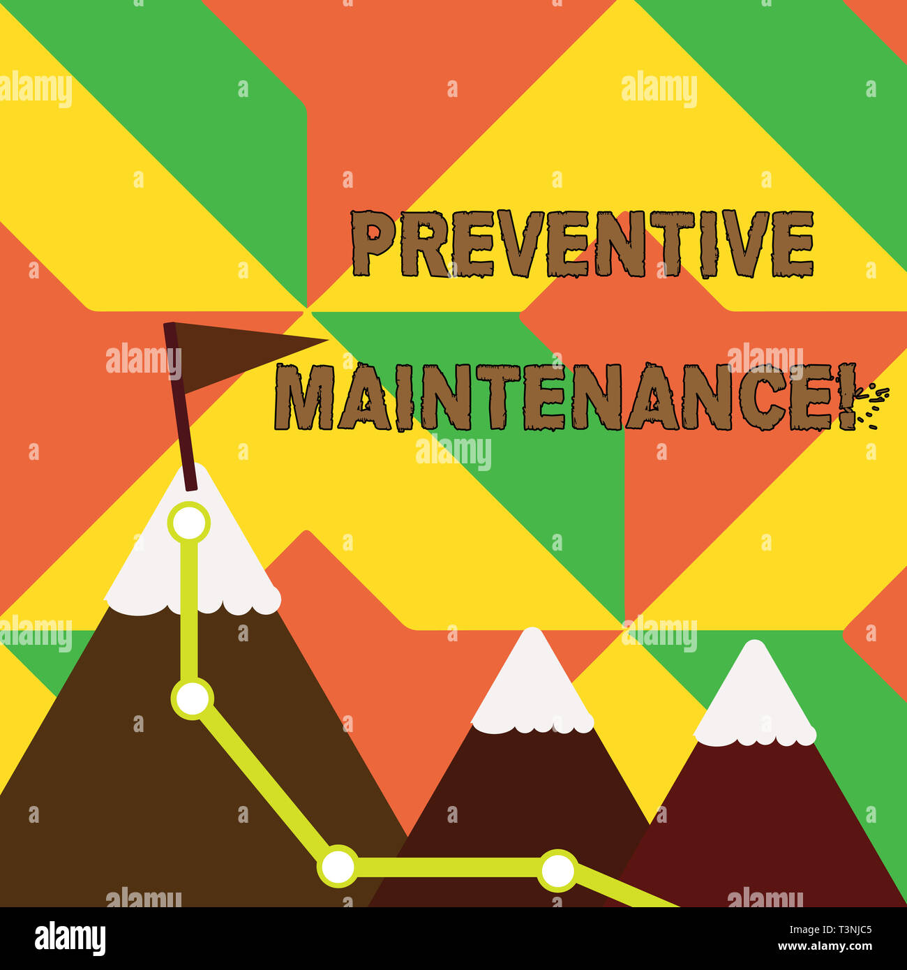 Word writing text Preventive Maintenance  Business photo