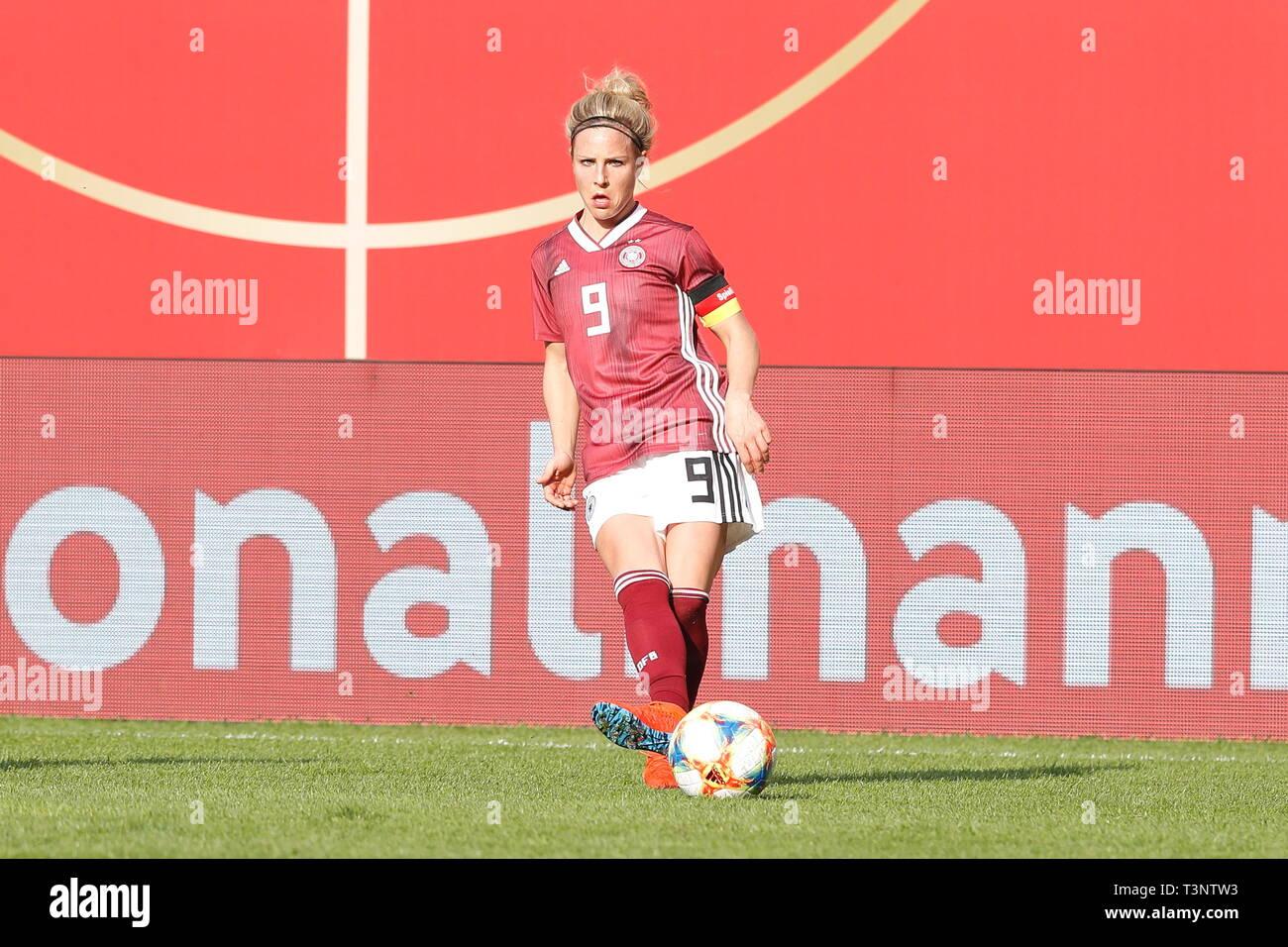 Svenja Huth (GER), APRIL 9, 2019 - Football / Soccer : International Friendly match between Germany 2-2 Japan at the Benteler-Arena in Paderborn, Germany. (Photo by Mutsu Kawamori/AFLO) - Stock Image