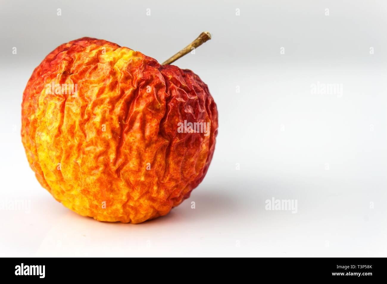 Wrinkled Apple Texture With White Background Shriveled Apple Old Apple Stock Photo Alamy